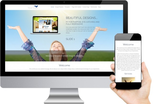 Reiki Website Templates Eight