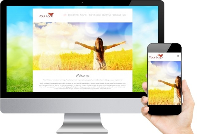 Reiki Website Templates Nine