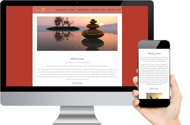 Reiki Website Templates Seven