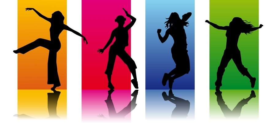 Zumba Website Templates - Zumba Dancers on Colourful Background