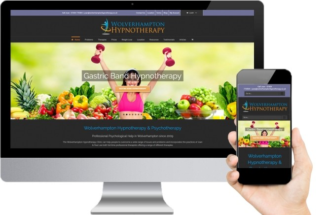 website design for Hypnotherapy example