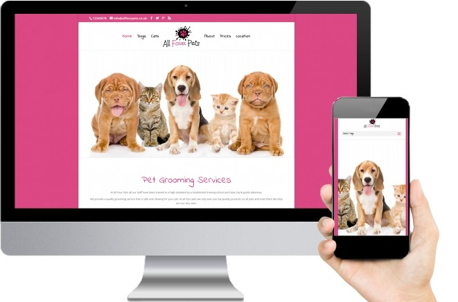 Dog Grooming Kent website design