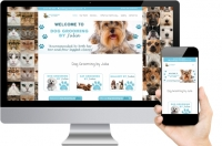 Dog Grooming by Julia Small Business Web Design