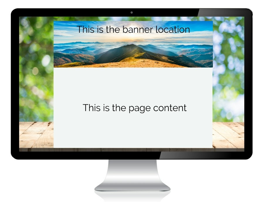 web design menu banner location image
