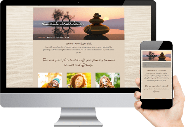 essentials website design for therapists - multiple devices