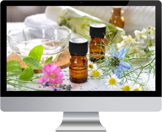 website design for aromatherapy example site