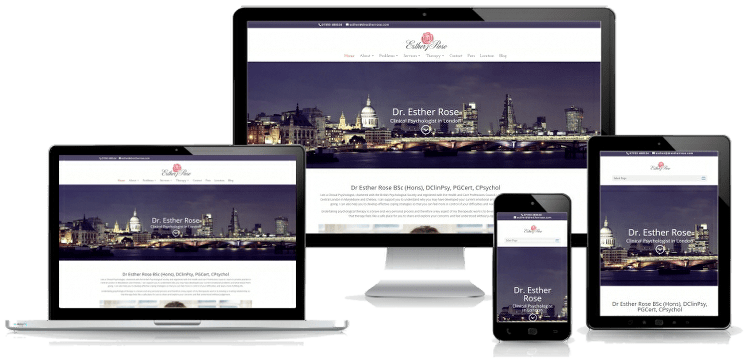 premium web design for therapists multi device montage