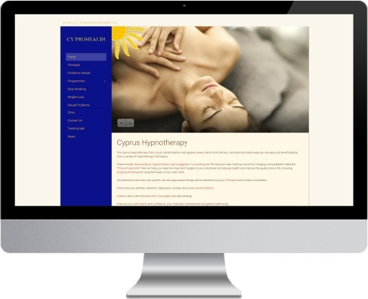 Cyprus Hypnotherapy Website Design