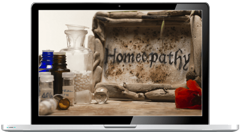 homeopathy website templates - laptop design