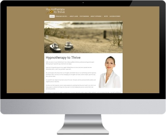 Hypnotherapy to Thrive Website Design
