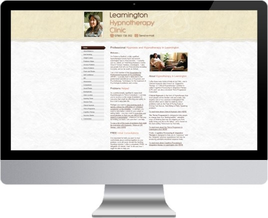 Leamington Hypnotherapy Website Design