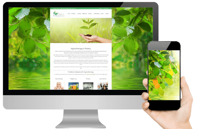 Premium website design for therapists design layout