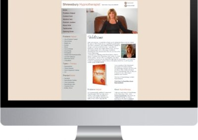 Shrewsbury Hypnotherapist Website Design