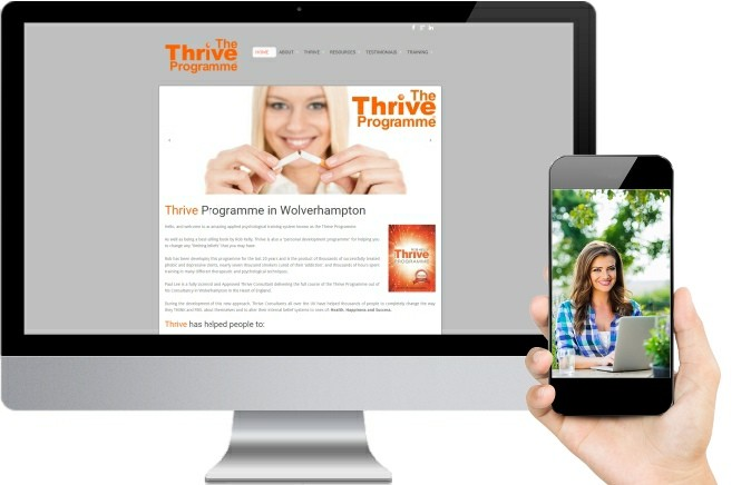 Thrive Programme Website Design