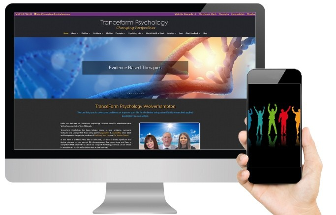 Tranceform Psychology Website Design