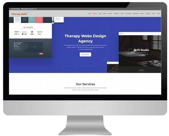 massage website templates - agency layout