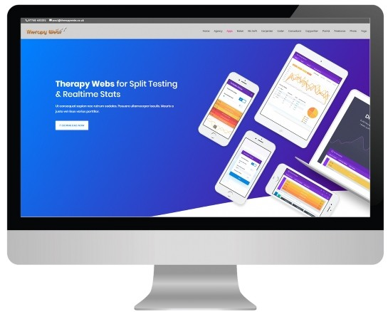 massage website templates - apps layout