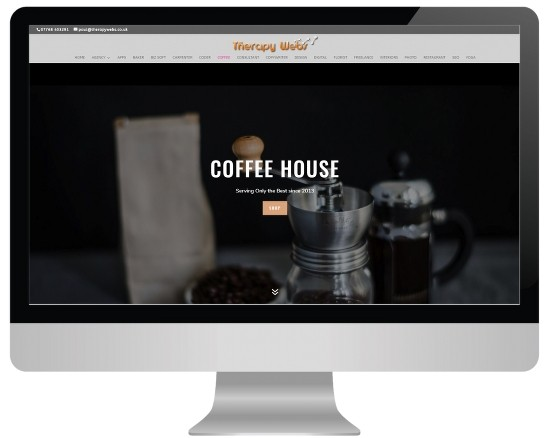 Counselling Website Templates - coffee layout
