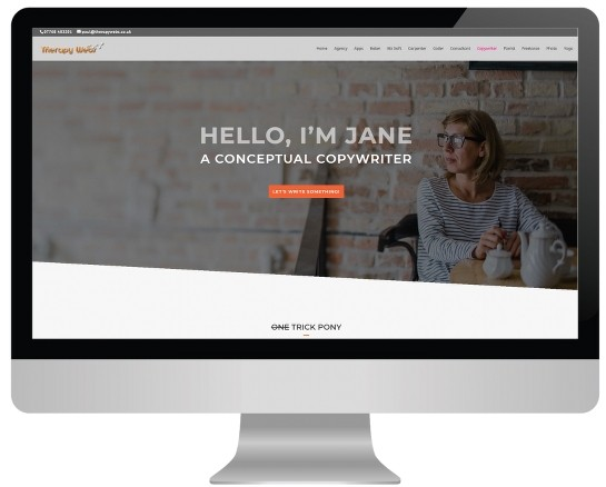 massage website templates - copywriter layout
