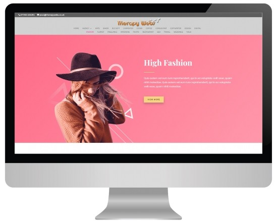 massage website templates - fashion layout