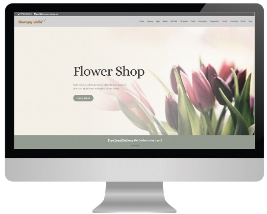 hypnotherapy website templates - florist layout