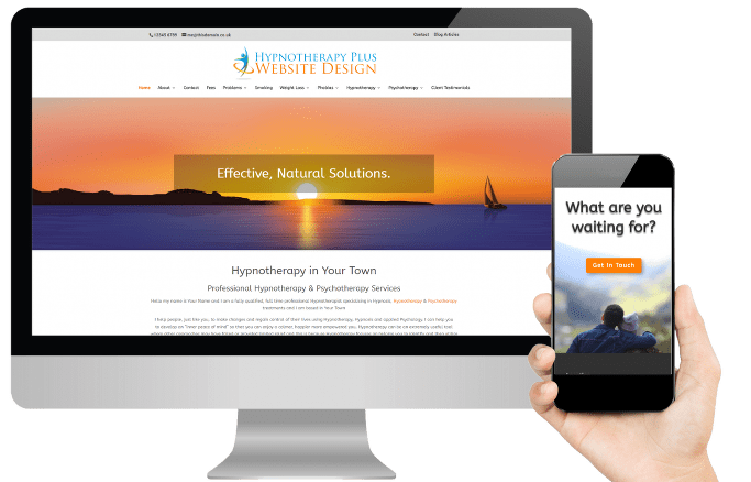 hypnotherapy plus website design for therapists Mac