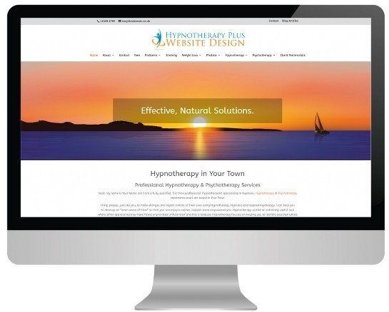 hypnotherapy plus website design for therapists live demo image