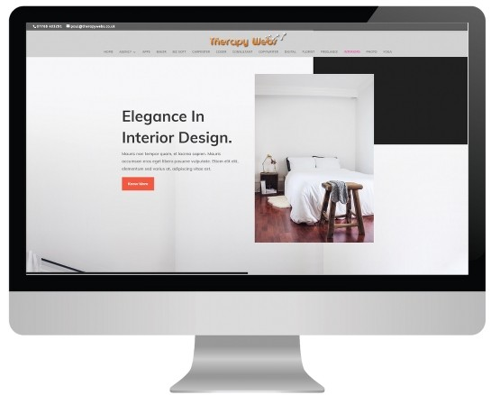 massage website templates - interiors layout