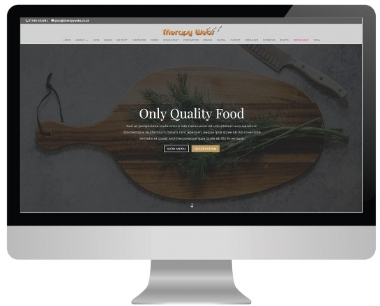 hypnotherapy website templates - restaurant layout