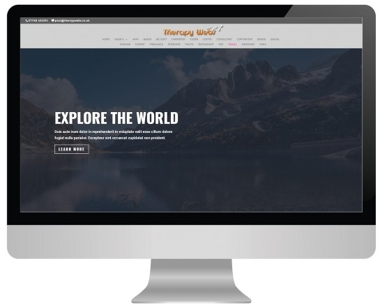 hypnotherapy website templates - travel layout