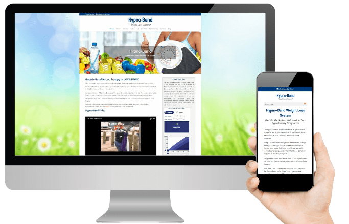 Hypno Band website design for therapists design layout